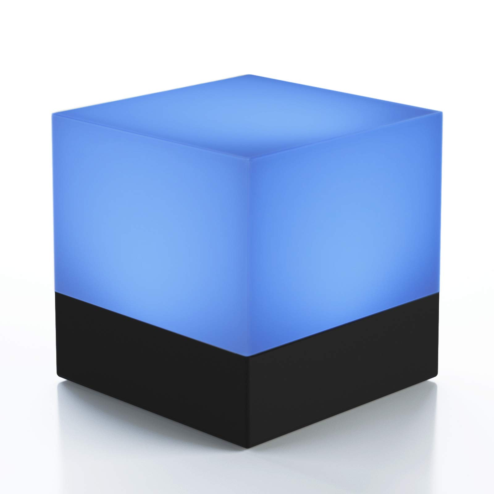 Dimmable, Color Changing LED Cube Bedside Night Light For Kids Bedrooms, Nurseries - Adjustable Mood Table Lamp for Ambiance - Multiple Settings and Colors, Battery Operated - Fun, Portable