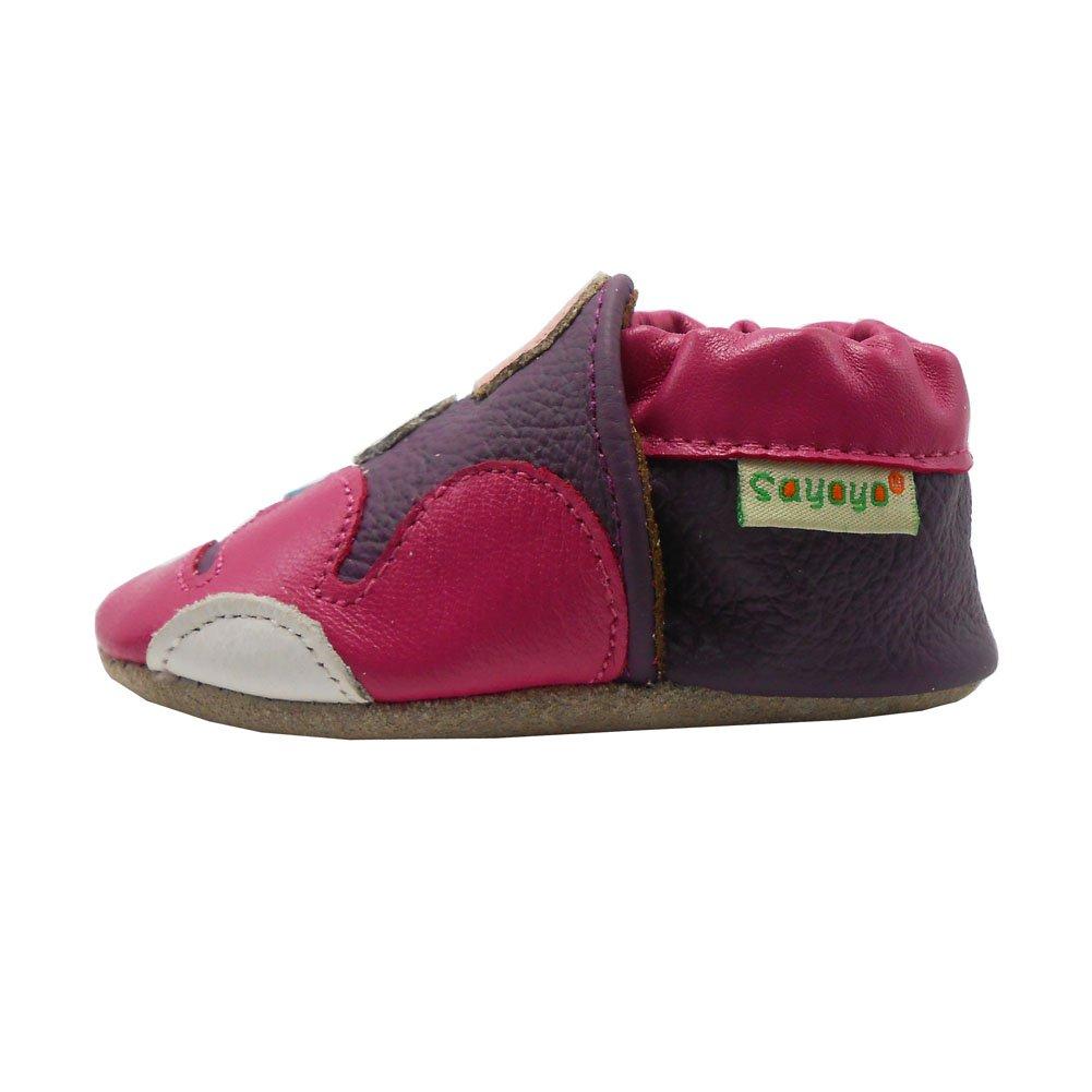 Sayoyo fleurs chaussures de b/éb/é en cuir souple chaussures semelle douce