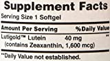 Puritans Pride Lutein 40 Mg with Zeaxanthin,60
