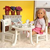 """CP Toys Wooden Table & Chair Playset for 18"""" Doll"""