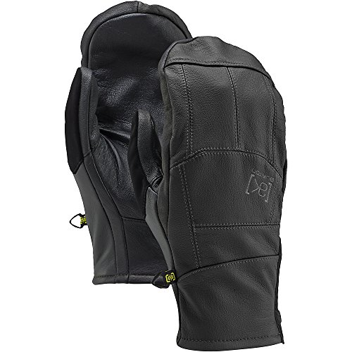 Burton [Ak] Leather Tech Mitts, True Black, (Burton Leather Glove)