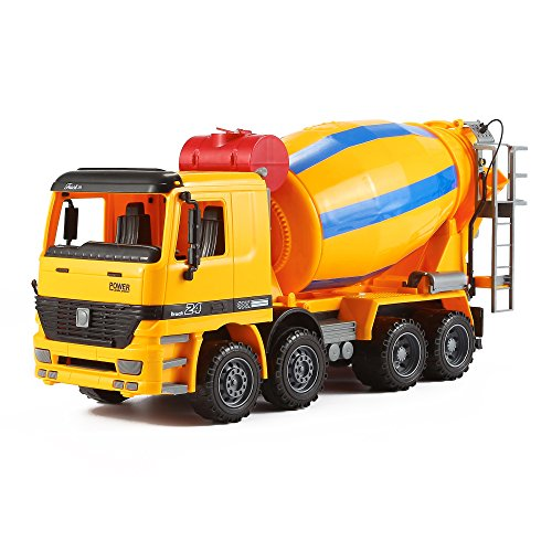 Jumbo Inertia Construction / Demolition Cement Mixer Truck (1:16 Scale), Stem Learning Tools