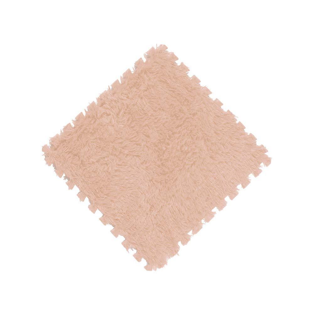 Tuu 9 Colors Square Kids Carpet Non-Slip Foam Rugs Soft Kids Play Mat (Beige)