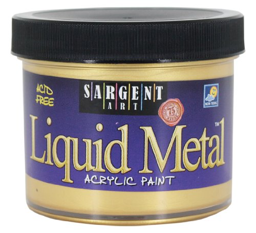 Sargent Art 22-1281 4-Ounce Liquid Metal Acrylic Paint, Gold