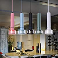 Porch & Patio Lights LED Macaron Modern Pendant Light 15W Downlight Spotlight Restaurant Acrylic Ceiling Hanging Lamp-Five Colors,White