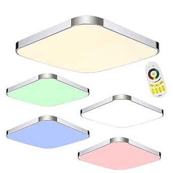 SAILUN 36W RGB LED Modern Deckenleuchte Deckenlampe Flur Wohnzimmer Lampe Schlafzimmer Kche Energie Sparen Licht 85V