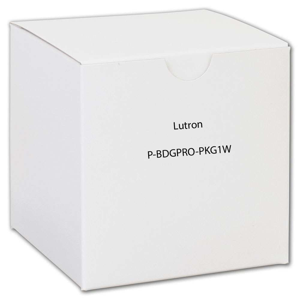 Lutron P-BDGPRO-PKG1W Wireless Dimmer Pro Kit With Smart Bridge 120 Volt White Caseta