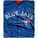 MLB Toronto Blue Jays Royal Plus Raschel Throw, One Size, Multicolor