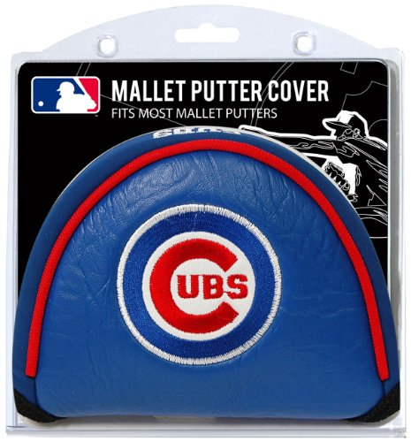 Team Golf MLB Chicago Cubs Golf Club Mallet Putter Headcover, Fits Most Mallet Putters, Scotty Cameron, Daddy Long Legs, Taylormade, Odyssey, Titleist, Ping, Callaway