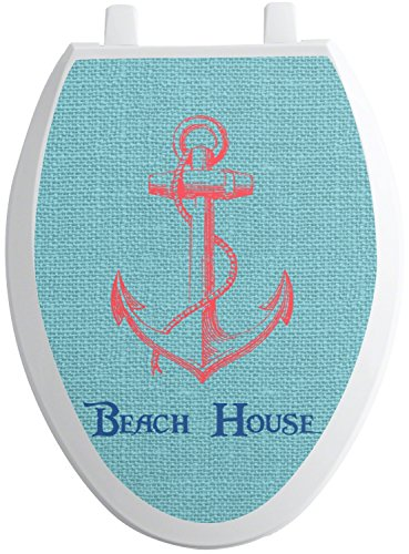 Elong Toilet Seat - RNK Shops Chic Beach House Toilet Seat Decal - Elongated