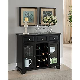 Kings Brand Furniture Buffet Server Sideboard Cabi...