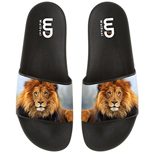 BVFCKMO Lion Unisex Mode Bequeme Flip Flop Big Screen Slip Auf Rutsche Sandale Für Männer Oder Frauen