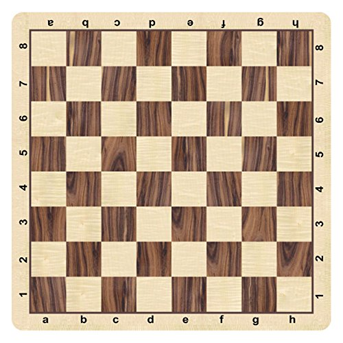 WE Games Rosewood & Maple Grain Mousepad Chessboard, 20 inches - made in USA by WE Games