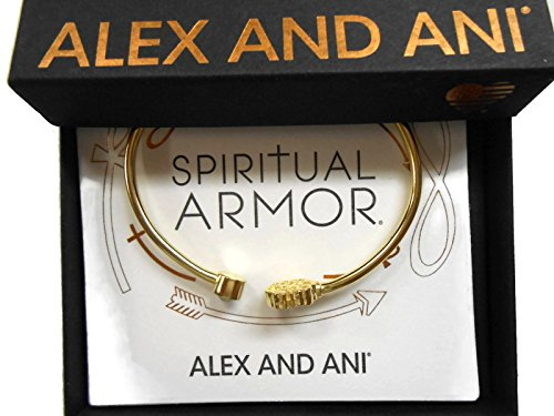 Alex and Ani Women's Passth of Life Cuff Bracelet, 14kt Gold Plated ()