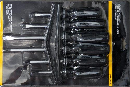 EVERCRAFT 6PC Chrome - Vanadium Screwdriver Set 7740505