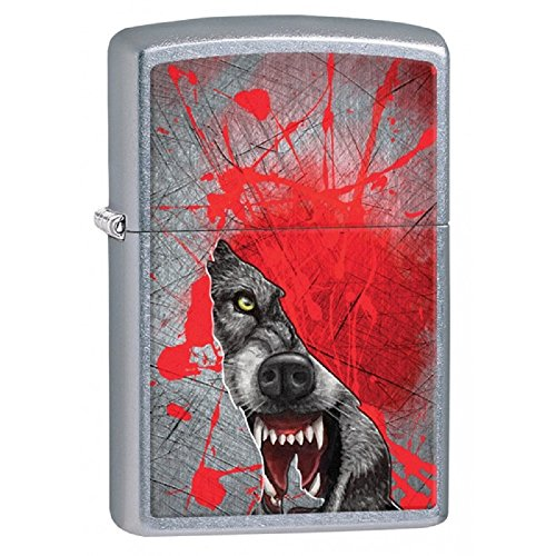 (Personalized Message Engraved Customized Wolf Wolves Zippo Lighter Indoor Outdoor Windproof Lighter (Fierce Wolf))