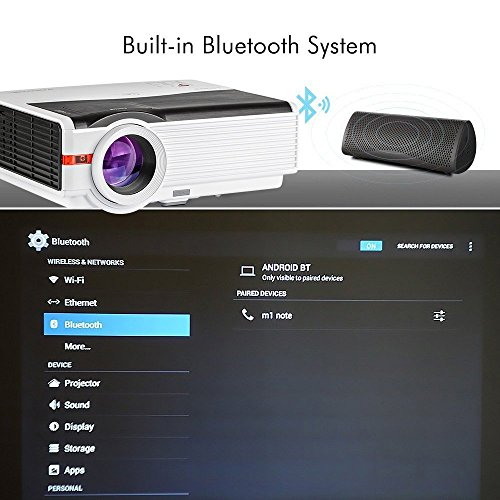 Caiwei bluetooth projector android 4200 lumens wireless for Bluetooth projector for iphone