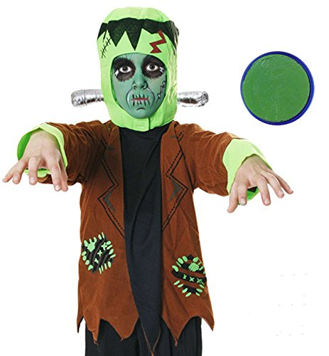 Boys Frankenstien Monster Halloween Costume WITH Green Face Paint (7-9 years)]()