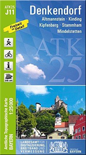 ATK25-J11 Denkendorf (Amtliche Topographische Karte 1:25000): Altmannstein, Kinding, Kipfenberg, Stammham, Mindelstetten (ATK25 Amtliche Topographische Karte 1:25000 Bayern)