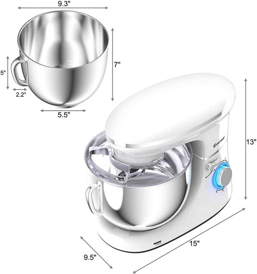 KOUQI Robot De Cocina con Batidor, Gancho para Masa Y Brazo Mezclador, 6 Velocidades Diferentes, Sweet Dreams, 660 Vatios: Amazon.es: Deportes y aire libre