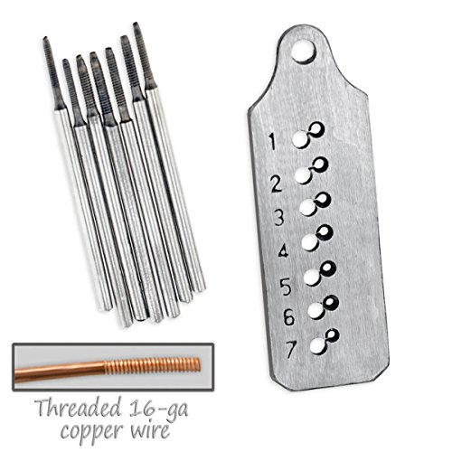 Generic O-8-O-1939-O gs Neck 1.0mm to 1.7mm mm Earr Thread Maker .0mm to Jeweler's 8pc read Ma Earrings Necklaces o Tap & Micro Tap & Die HX-US5-16Mar28-636