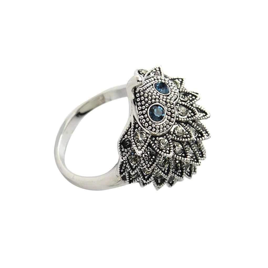Arichtop Femmes strass h/érisson anneau filles f/ête de mariage cadeaux danniversaire anneau de bijoux animaux