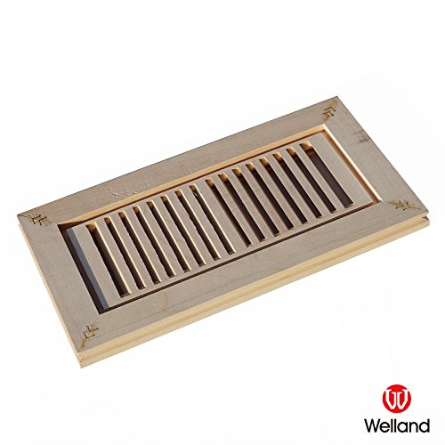 WELLAND Hardwood Vent Floor Register (Maple Louvered Register)