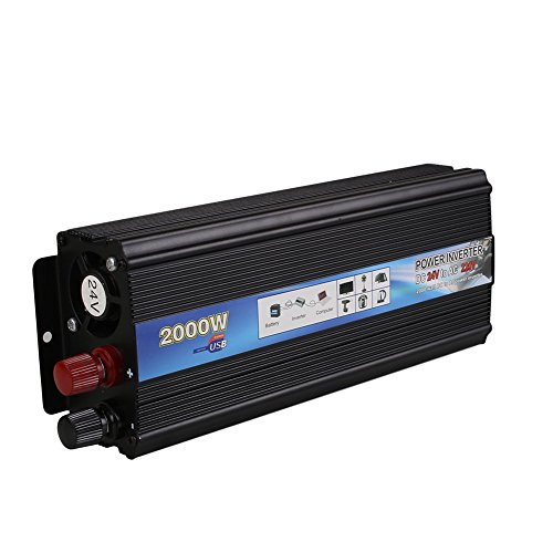 Cewaal 2000W 2000W Auto Car Vehicle Power Inverter 24V-220V/12V-110V...