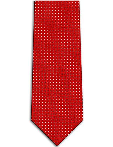 KissTies Red Tie Cross Pattern - Pattern Cross Tie