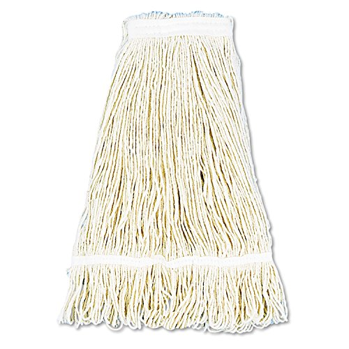 UNISAN Pro Loop Web/Tailband Wet Mop Head, Cotton, 24-Ounces, White (424C)