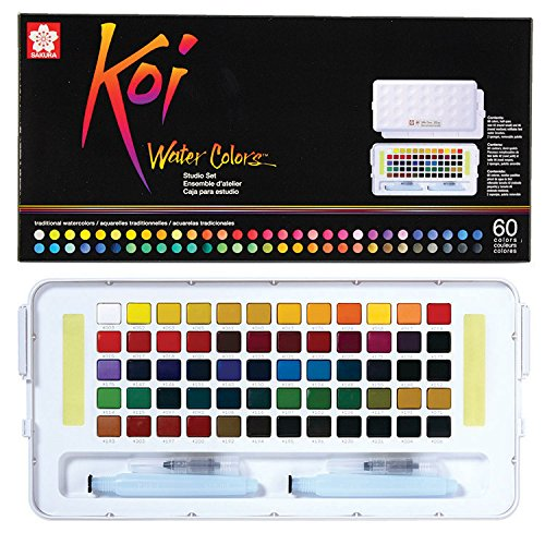 "Sakura XNCW-60N Studio Watercolor Set, 60"", Assorted"