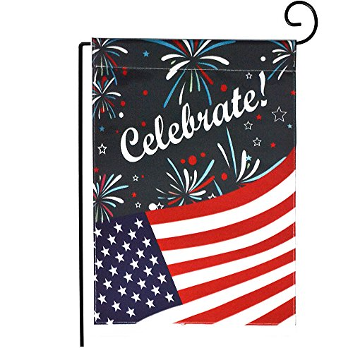 """Dreamlevel Happy Independence Day Garden Flag, 12.5"""" x 18"""" D"""