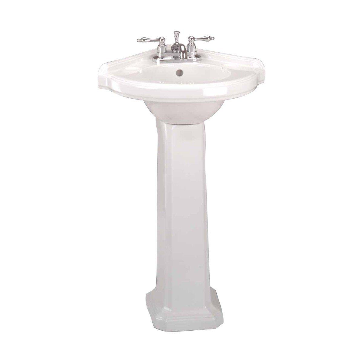 Renovator S Supply Portsmouth Small Bathroom Corner Pedestal Sink