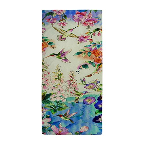 CafePress Hummingbird_Stained_Glass_23 35 Large Large Beach Towel, Soft 30
