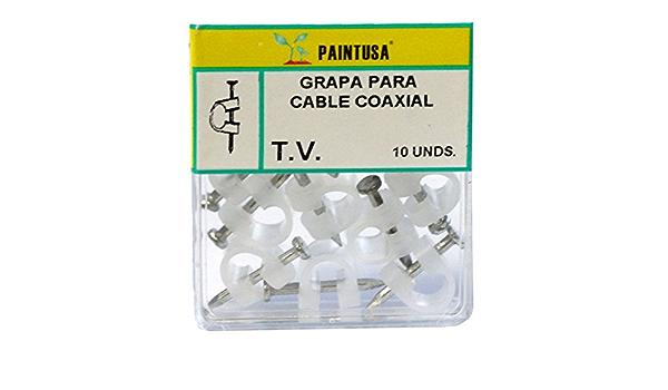 Grapas para cable coaxial transparentes10 uds: Amazon.es ...