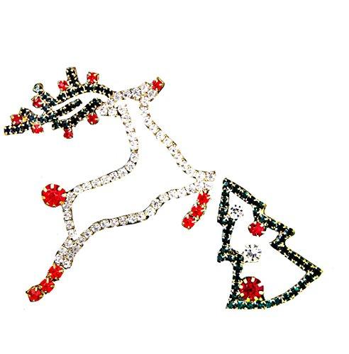 Liz Claiborne Jewelry (Liz Claiborne Reindeer and Tree Christmas Pins)