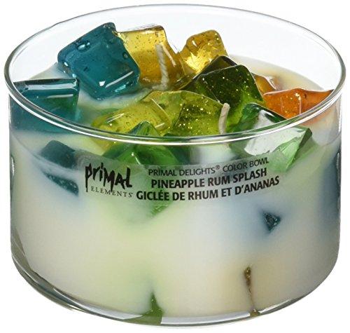 Primal Elements Color Bowl Soy Blend Candle, 8 OZ, Pineapple Rum Splash]()