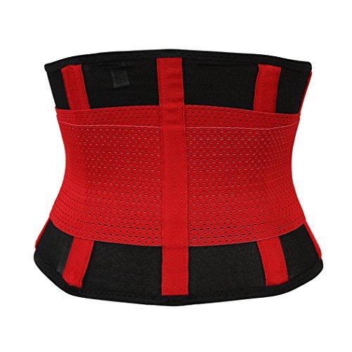 Rosfajiama transpirable posnatal maternidad apoyo cinturón cintura adelgazamiento Shaper envoltorio cinturón Rojo