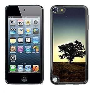 Paccase / SLIM PC / Aliminium Casa Carcasa Funda Case Cover - Sunset Tree Beautiful Nature 1 - Apple iPod Touch 5