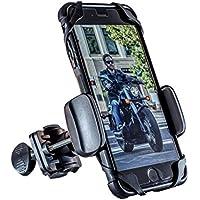 Motorcycle Phone Mount - DOGO 100 Cruiser - Universal Handlebar Smartphone Holder for Street Bike, Dirt Bike, Road Bike, Mountain Bike - Fits Any Cellphone iPhone, Android, Galaxy, LG, HTC, etc.
