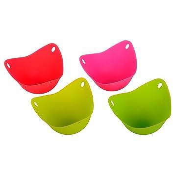 hoerie Escalfar huevos vasos sin BPA pochar Pods para microondas o hornillo, huevo cocina (