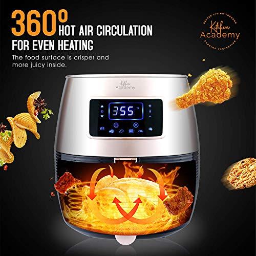 Kitchen Academy 5.8QT Digital Oil Free Air Fryer, Black
