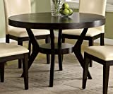 Furniture of America CM3423T Downtown I Pedestal Dining Tables For Sale