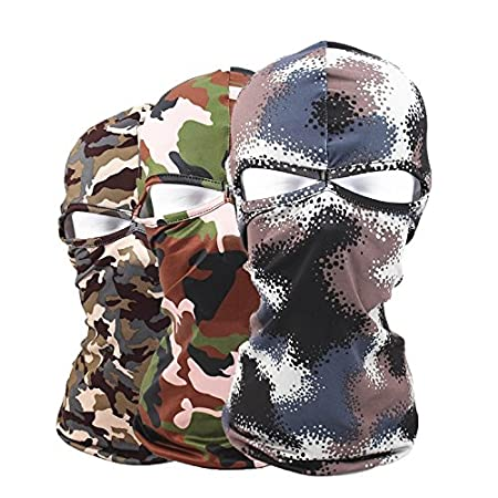 Brown-Black Uomo AUTULET Tactical Hood Headwear Balaclava Full Face Cover per Protezione dal Sole Pescatore Maschera