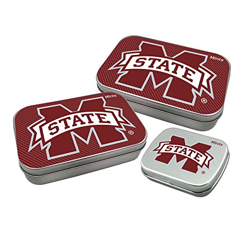 Worthy Promotional NCAA Mississippi State Bulldogs Decorative Mint Tin 3-Pack with Sugar-Free Mini Peppermint Candies