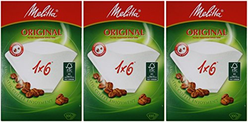 300 Filtertüten Melitta Original 1x6 Kaffeefilter 3 Pakete à 100 Stk.