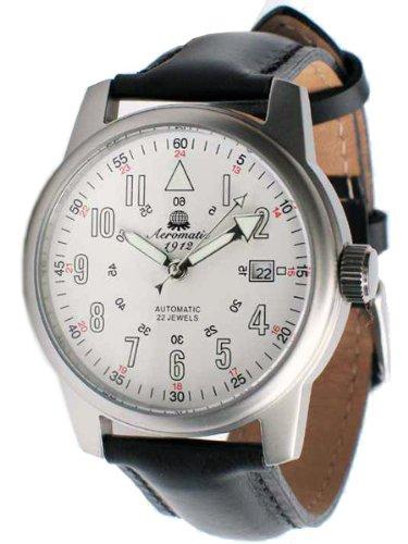 Aeromatic-1912-22-Jewel-Automatic-Aviators-Watch-A1027-White