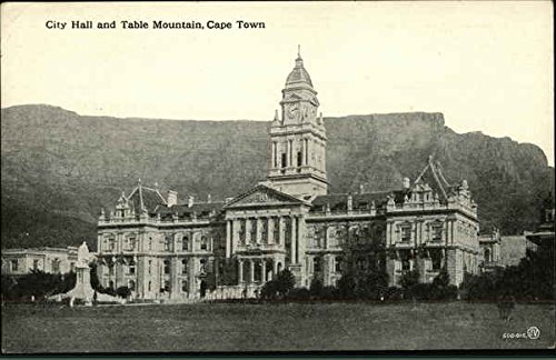 - City Hall and Table Mountain Cape Town, Africa Original Vintage Postcard