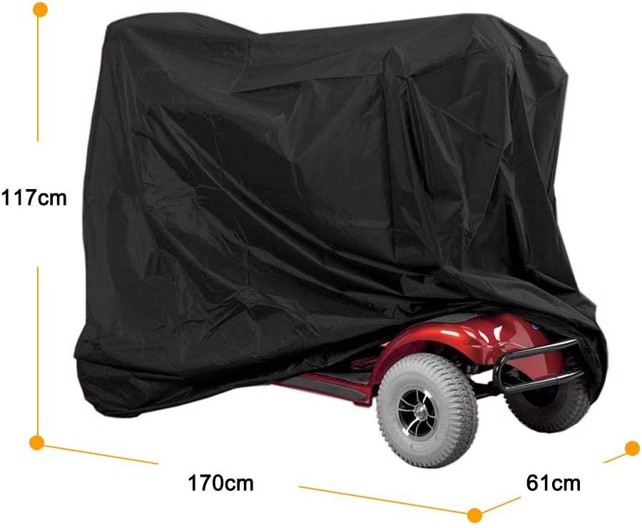Mobility Scooter Storage Cover Keep Your Electric Powered Transport Clean and Dry at Home or on the Road 48L x 22D x 38H