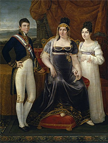 [Oil Painting 'Aparicio E Inglada Jose La Reina De Etruria Y Sus Hijos Ca. 1815' 10 x 13 inch / 25 x 34 cm , on High Definition HD canvas prints is for Gifts And Game Room, Garage And Hallway] (Animals That Begin With E)